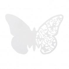 Lot de 10 marques places pour verre - papillon