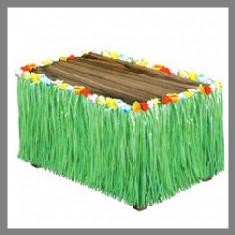 Nappe hawaienne façon pagne vert