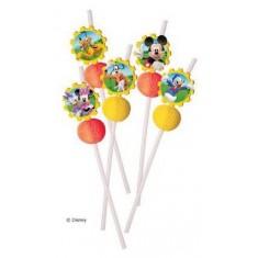 Pailles médaillons Mickey Playful - x6