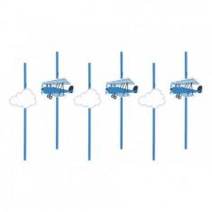 6 pailles avion et nuage