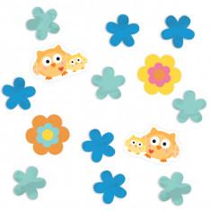 Confettis baby-shower hibou
