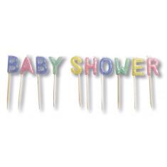 Bougies baby-shower sur piques