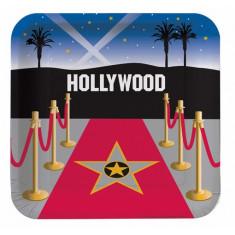 8 assiettes Hollywood - Ø 23 cm