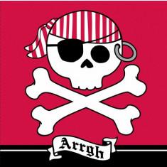 16 serviettes Pirate Party rouge