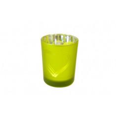 Photophore cœur vert