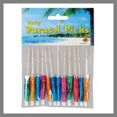 Parasol sur pique - Thème Hawaï - x12