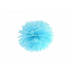 Pompon bleu ciel - 25 cm