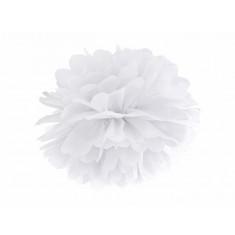 Pompon blanc  - 35 cm