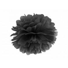 Pompon noir - 35 cm