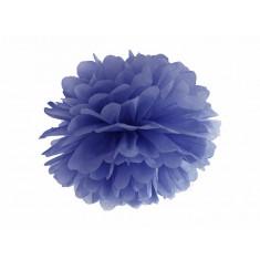 Pompon bleu foncé - 35 cm