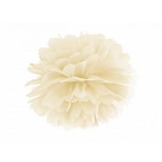 Pompon crème - 35 cm