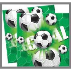 Serviettes Football Green - x20