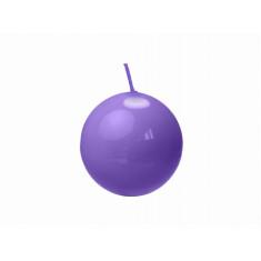 Bougie ronde violette - Ø 6 cm