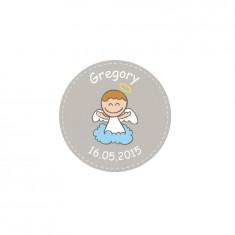 40 Stickers ange garcon personnalisés