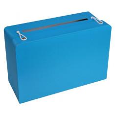 Tirelire valise turquoise