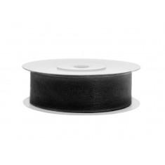Ruban de soie 19 mm - noir