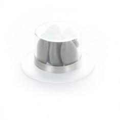 Contenant dragées plexi chapeau - 6 cm