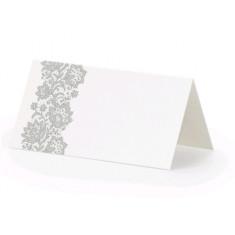 25 Marque-places en papier blanc