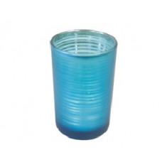 Photophore rayé turquoise