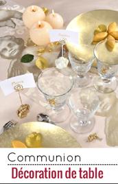 Une belle déco de table pour une communion mémorable