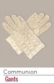 Des gants pour habiller les mains des jeunes communiants