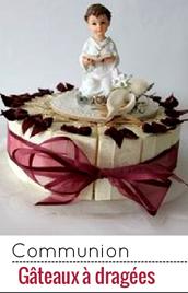 La gâteau à dragées est un moyen original de les offrir lors d'une communion