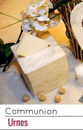 Une urne afin que les invités de la communion puissent vous laisser leurs dons
