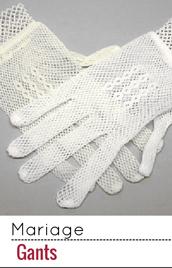 Choisissez l'une de nos paires de gants pour la mariée