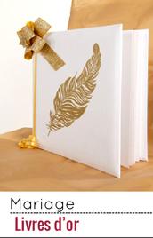 Un livre d'or pour recueillir le précieux témoignage de vos convives