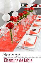 Décorez votre table de mariage avec ces chemins de table