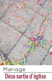 Confettis et autres accessoires pour célébrer les mariés à la sortie de l'église