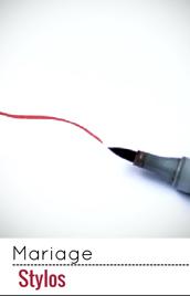Prenez le plus beau des stylos pour votre déco de mariage