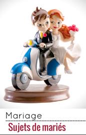 Osez l'originalité des sujets mariés pour votre gâteau de mariage