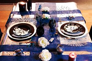 idees deco mariage bleu marine