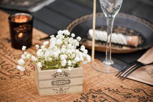 deco mariage champetre et dentelle