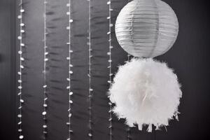 decoration mariage argent et blanc