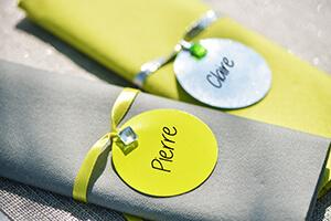 idee deco table vert anis et gris