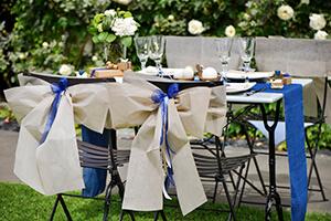 couleur grise et bleu theme mariage