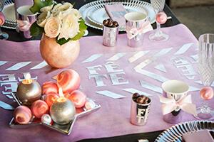 table grise et rose mariage