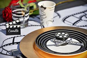 deco table mariage noir et blanc