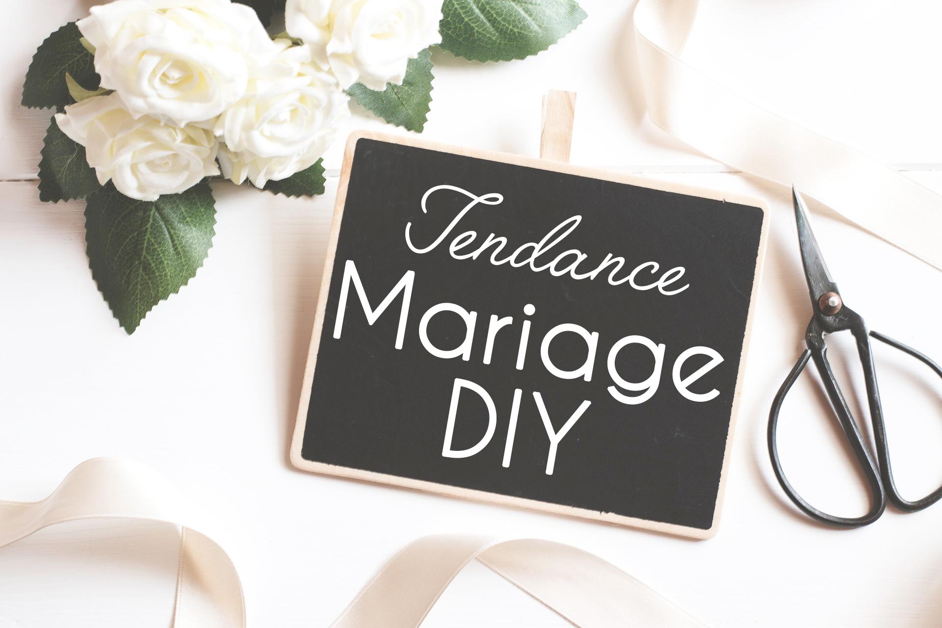 tendance mariage diy