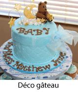 décoration de gâteau baptême