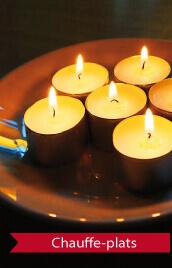 bougies chauffe plat pour photophores ou lanternes