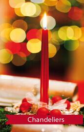 bougies chandeliers pour ambiance romantique