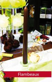 superbes bougies pour une déco table de mariage