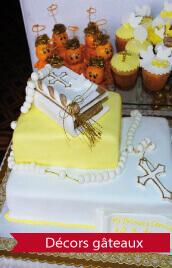 décorations pour les gâteaux le jour de la communion
