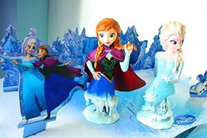 décoration gâteau la reine des neiges