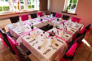 deco table mariage rose et marron