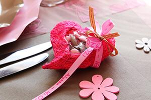 deco grise et rose pour mariage