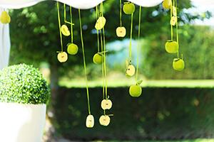 deco mariage vert anis et gris